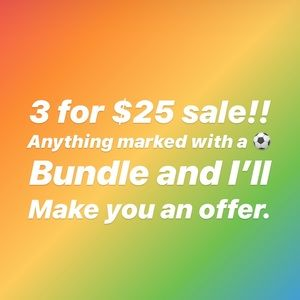 Other - ⚽️ 3 for $25 Sale! ⚽️